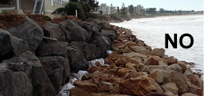 Collaroy Beach collapsed rock wall